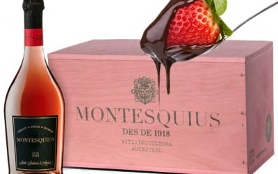 Montesquius 1918 Gran Reserva Brut Nature y fresas con chocolate